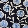 Copenhagen Print Factory Fabric Flowers Hearts Navy FQ Fat Quarter / F8th Scandi