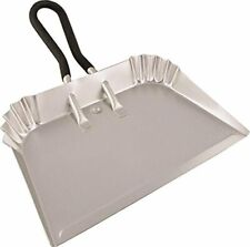 Lightweight Aluminum Dustpan w/ Rubber Loop Handle for Large Cleanups (17 Inch)