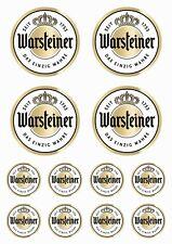 Warsteiner - 12 stück Vinyl-Aufkleber - 12 pieces Vinyl Stickers - #Wa01