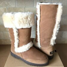 UGG SUNDANCE II CHESTNUT SUEDE SHEARLING TALL BOOTS SIZE US 10 WOMENS