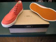 GENERIC SURPLUS BOAT SHOES MENS 8.5 RED  BY OBEY  MID DECK CVS  NEW IN BOX  MINT