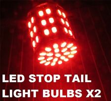 BRIGHT 1142 BA15D RED LED Stop Tail Lights Bulbs Car