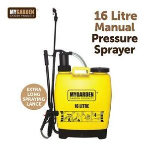 16L Litre Knapsack Backpack Sprayer Pressure Spray Crop Garden Weed Pest Killer