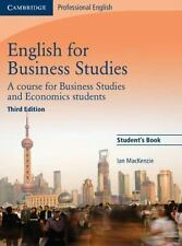 English for Business Studies Student's Book : A Course for Business Studies and