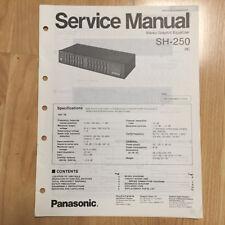 Original Panasonic Service Manual for SH Model Equalizer Processor ~ Select One