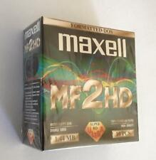 """Maxell (Vintage Sealed box of 10 disks) 3.5"""" Floppy Discs - MF2HD -IBM Formatted"""