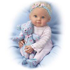 So Truly Real Lauren Baby Doll w/Poseable Teddy Bear by Ashton-Drake