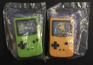 2 X Burger King Gameboy Elekid Squirtle Yellow Green Pokemon World 2000 NEW