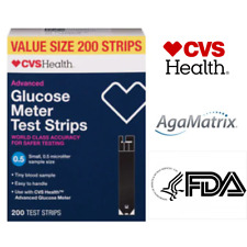 CVS Health Advanced Glucose Meter Test Strips 50-100-200CT Diabetes Test Strips