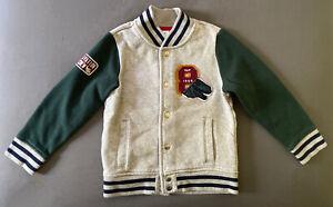 Toddler Boy Size 5 5T Baby Gap Green & Gray Dinosaur Snap Front Sweater
