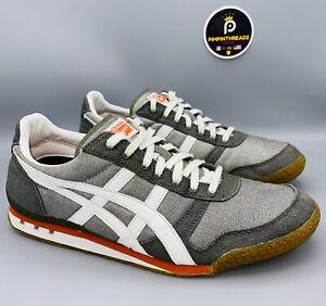 Mens Asics Onitsuka Tiger Ultimate 81 Running Shoes Charcoal Grey Orange Sz 10.5