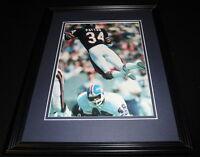 Walter Payton DIVE Framed 11x14 Photo Display Bears vs Broncos