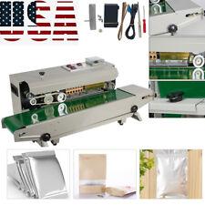 Auto Sealing Machine Horizontal Continuous Plastic Bag Band Sealer 500w 110v Us