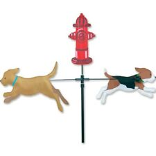 Dogs Fire Hydrant Carousel Wind Spinner Premier