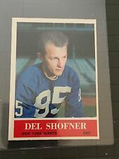 1964 PHILADELPHIA #123 DEL SHOFNER* GIANTS ** KRF-9125 **