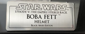 Star Wars Black Series Boba Fett Helmet Display Plaque