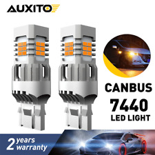 CANBUS Error Free 7443 7444 7440 LED Amber Turn Signal Parking DRL Light Bulbs