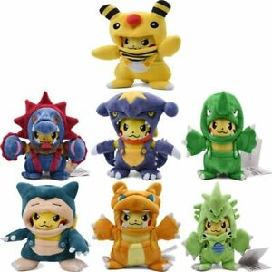 20cm Pikachu Ampharos Garchomp Snorlax Tyranitar Stuffed Soft Toys for Gifts
