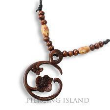 Halskette Anhänger Holz Amulett Organic Wood Necklace Design N249