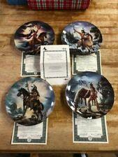 "Bradford Exchange set of 4 ""Hunters of the Spirit"" Rare Collector Plates"