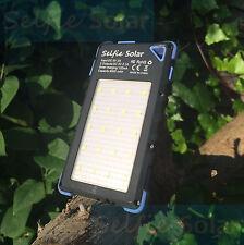 Selfie solaire rapide téléphone chargeur-portable, imperméable, dual usb et led torche