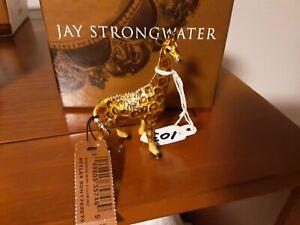 Jay Strongwater Enameled Giraffe Figurine w/box