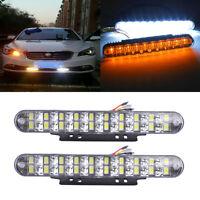 2pcs 30LEDs Car Daytime Running DRL Day Lamp Turn Signal Indicators Lights 12V