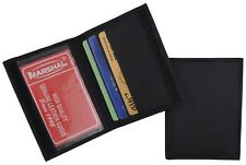 Mens Slim Bifold Black Leather Credit Card Holder Style ID Mini Wallet Thin New