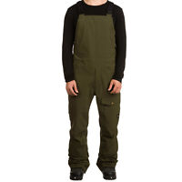ANALOG by BURTON Mens 2018 Snowboard Snow - Breakneck Bib Pant - Forest Night