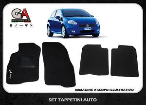 Tappetini auto Fiat Grande Punto in moquette con ricami