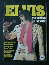 ELVIS PRESLEY : The Legend Lives On - Memorial Issue - 1978 VGC VINTAGE