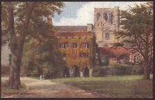 """Hampshire. Winchester """"The Deanery"""" by A.R Quinton. Salmon Postcard #1535"""