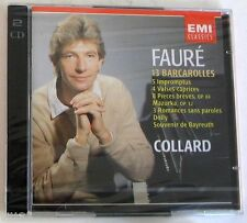 FAURE' G. - 13 BARCAROLLES, 5 IMPROMPTUS... - COLLARD - 2 CD Sigillato