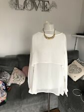 Marina Kaneva White Blouse Size 22 24 (m2)