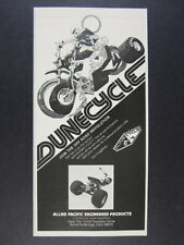 1973 Dunecycle Dune Cycle three wheeler Allied Pacific vintage print Ad