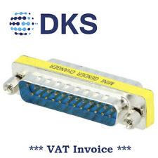 DSUB Gender Changer Adapter 25M / 25M 25pin Plug Both Sides 001317