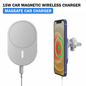 15W Wireless Charger Mag Safe Car Vent Mount Magnetic For iPhone 12 Pro Max Mini