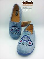 Ladies Slipper - DeValverde - AW19 137 Ducados  (Light Blue)