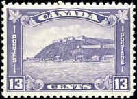 1932 MH Canada VF Scott #201 13c King George V Medallion Stamp