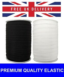 Black Elastic White Elastic Flat Woven Strong Sewing Dressmaking Band 12MM Wide