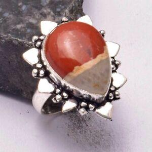 Bloodstone Ethnic Handmade Ring Jewelry US Size-7.5 AR 35277