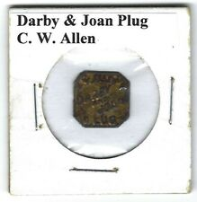 Darby & Joan Chewing Tobacco Tag C.W. Allen D163 Embossed