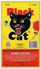 ORIGINAL FIRECRACKER LABEL BLACK CAT FELINE BRICK MACAU MODERN 10/200 FIREWORK