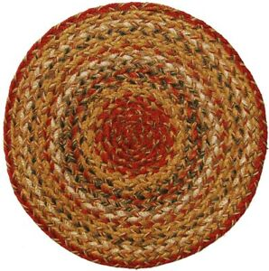 "Homespice Decor Mustard Seed Braided Trivets - 15"" (Set of 3)"