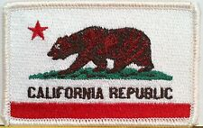 CALIFORNIA State Flag Patch With VELCRO® Brand Fastener White Border #5
