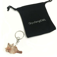 Cat Keyring Acrylic Persian Cat Keychain Car for Women Gift Keyring