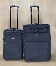 """Kirkland Black Cordura Luggage Set 22"""" Carry On & 26""""  Wheeled Rolling Suitcase"""