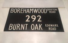 "London Linen Bus Blind Jan78 36""- Borehamwood Drayton 292 Burnt Oak Edgware Road"