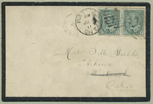 Canada 1911 Mourning Cover, Dinton AB to Lambton County, ON, Redirected - ph111