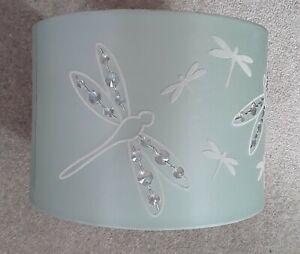 Light shade Ceiling Pendant lamp Fabric  modern Lighting Green Drum Crystals